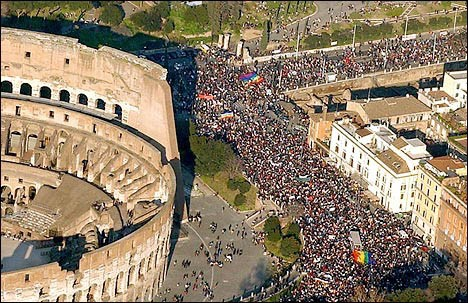 Hardloopfeest in Rome
