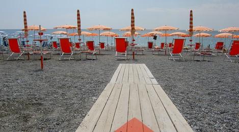 Naar het strand in Italie