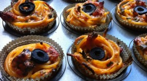 Spaghetti Cup cake