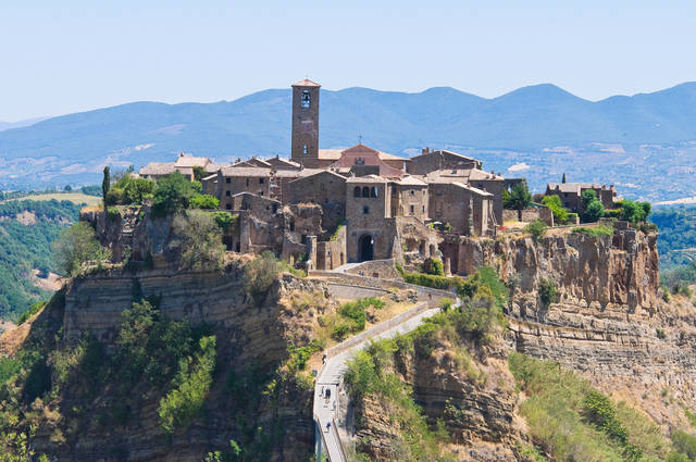 Civita di Bagnoregio in de regio Lazio