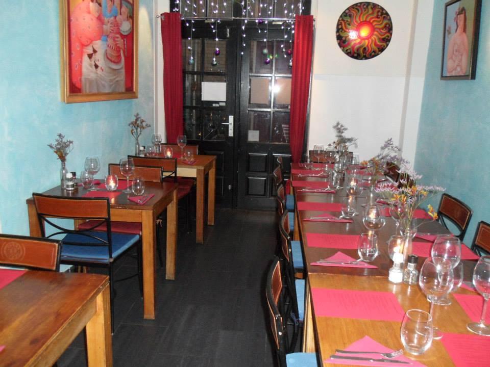 Het kleine restaurant Eatmosfera in Amsterdam