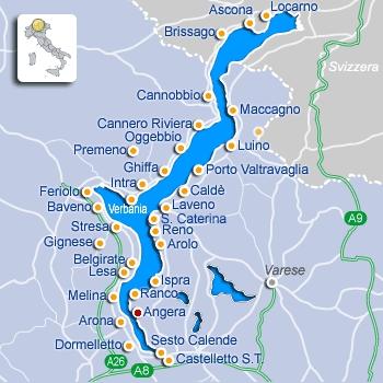 kaartje Lago Maggiore