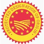 Het PDO logo voor Beschermde Oorsprongsbenaming