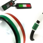 sieraden van carbon tricoli italiaanse driekleur vlag