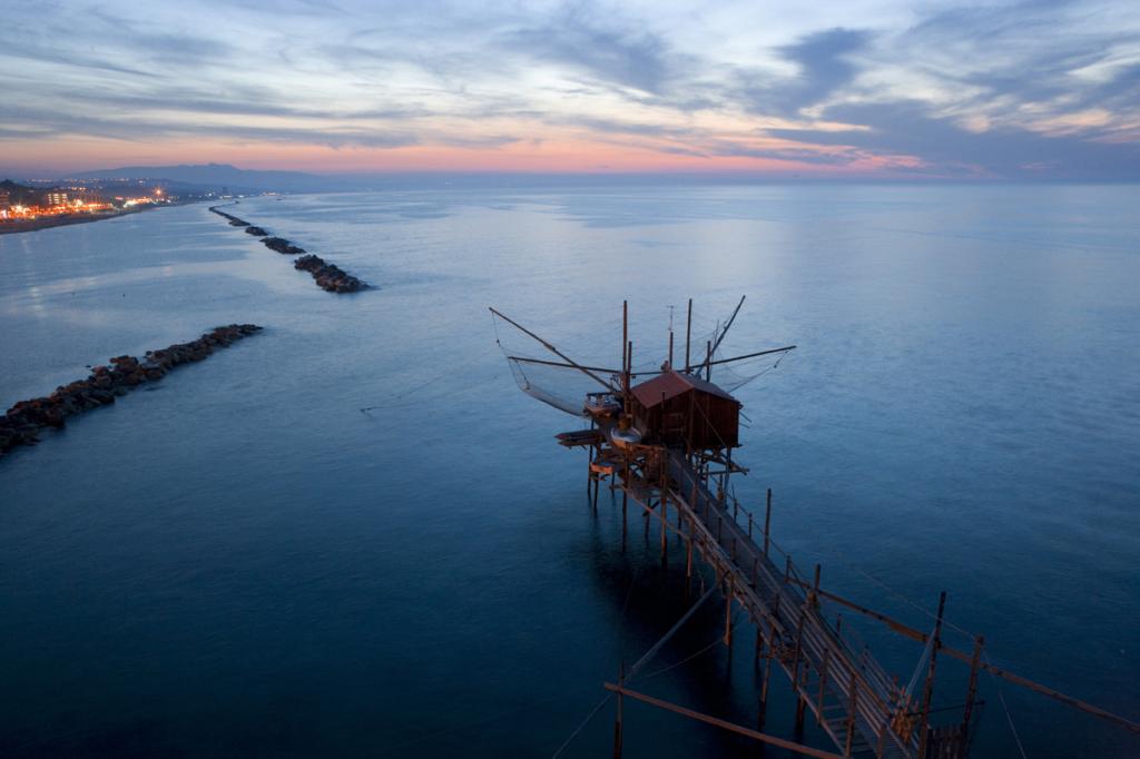Trabucco, traditionele vissersnetten in de regio Molise