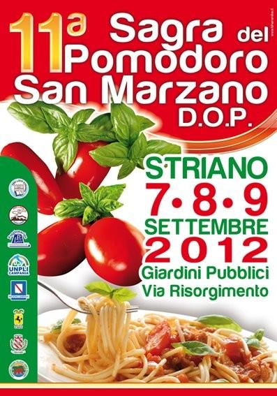 Aankondiging van het Sagre del Pomodoro in Striano