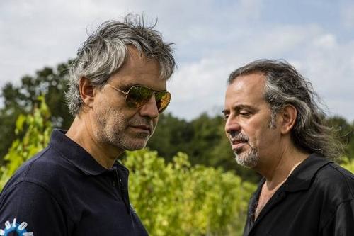 Andrea en Alberto in de wijngaard