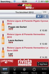 App voor de beste Italiaanse wijn van Gambero Rosso