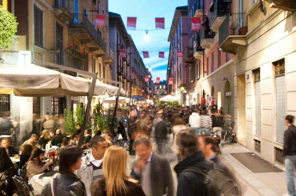 De wijk Brera in Milaan