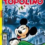 De cover van Topolino ter ere van 150 jaar Italië