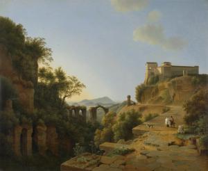 De golf van Napels met op de achtergrond het eiland Ischia (1818). Klik om te vergroten.
