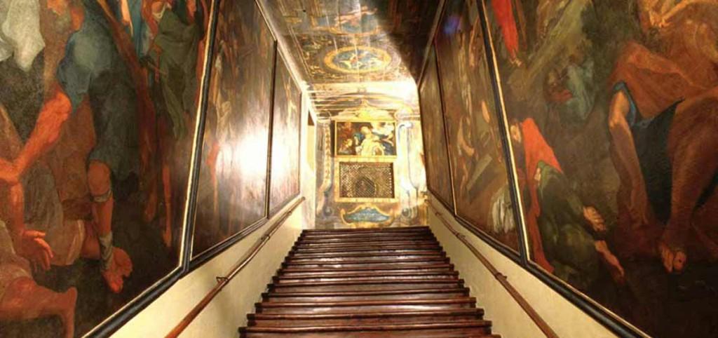 De heilige trap van Campli in Teramo