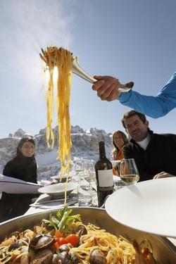 Spaghetti alle Vongole op de piste!