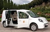 Elektrische Renault Kangoo voor het zomerhuis van de Paus