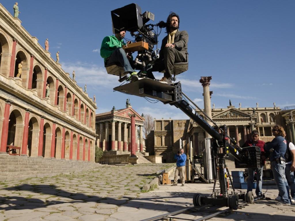 Het oude Rome is een van de vaste sets in Cinecitta