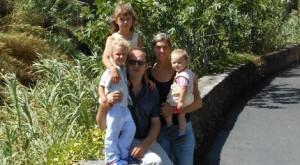 Joelle met gezin in Italië