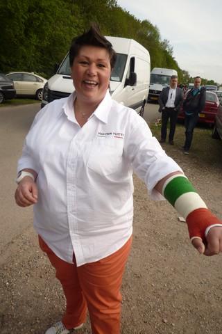 Peggy Sornberger wilde na een operatie perse Tricolorigips. Dat kon niet maar deze echte Italissima kreeg het toch voor elkaar