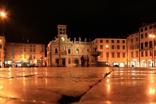 Het Piazza Matteotti in Udine