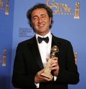 Regisseur Paolo Sorrentino met de prijs