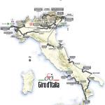 Route schema Giro Italia 2013