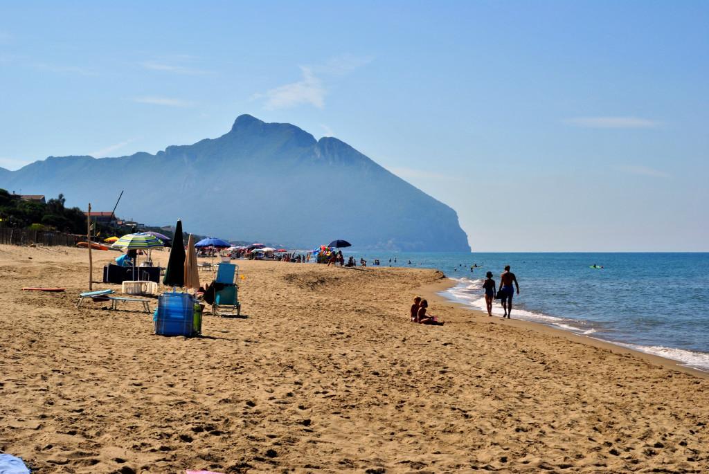 Sabaudia strand vlakbij rome