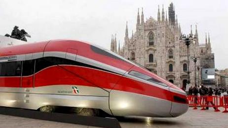 Snelle trein naar Italië