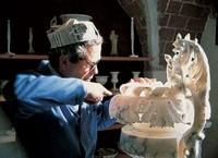 Van het albast uit Volterra worden schiterende kunstwerken gemaakt