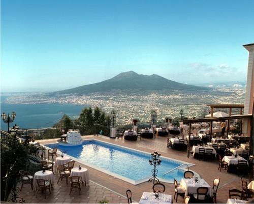 Villa Palmentiello met uitzicht op de Vesuvius