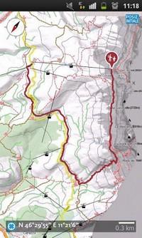 Een afbeelding van de wandel app voor Sud Tirol