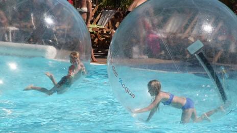 Waterballen op het Italie Evenement