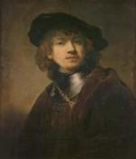 Zelfprotret van Rembrandt in het Uffizi Florence