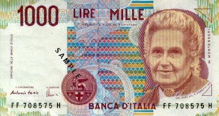 Bankbiljet met Maria Montessori