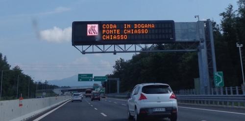 borden italiaanse snelweg