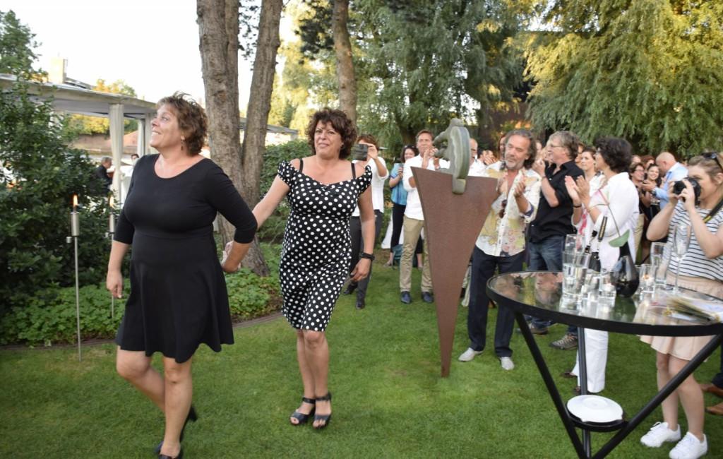 De dames van Da Braccini onderweg naar het podium