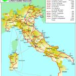 Fietsroutes in Italie