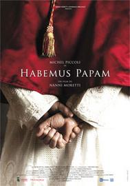 Filmposter van de Italiaanse film Habumus Papam. We hebben een paus!