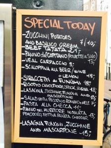 Je kan bij Hoppy Days ook lekker Italiaans happen!