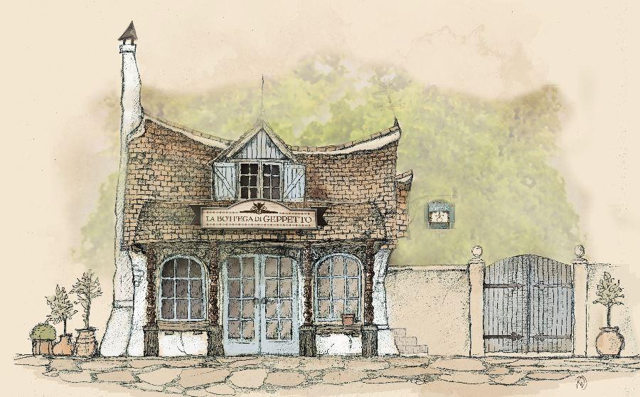 Zo komt het huisje van Geppetto er in de Efteling uit te zien.