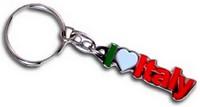 i love italy sleutelhanger tricolori