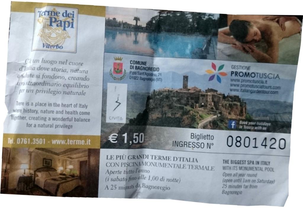 Toegangskaartje kost €1,50