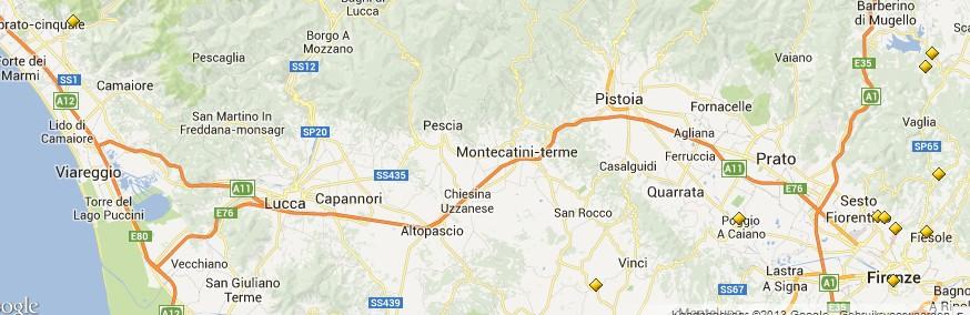 locaties villas medici toscane
