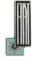 Het logo dat in de jaren 50 en 60 op de koelkasten van Fiat stond