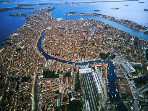 Luchtfoto van Venetië