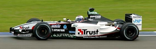 Jos Verstappen in de Minardi in 2003