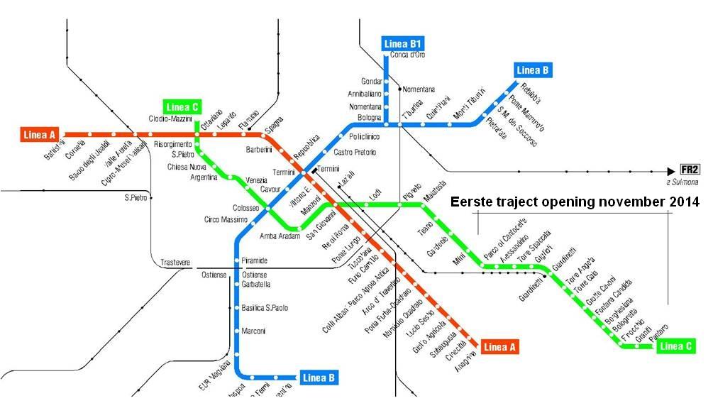 nieuwe metrolijn rome