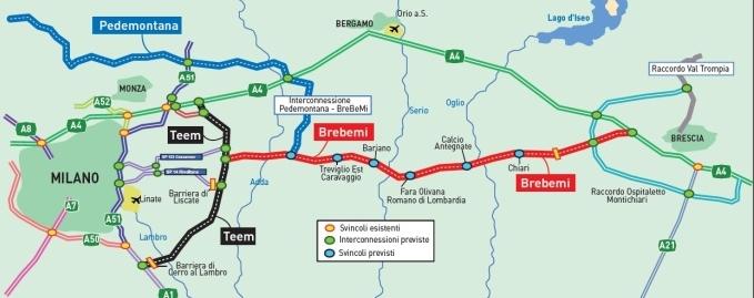 nieuwe snelweg milaan brescia