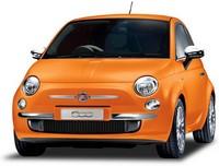 Oranje Fiat 500