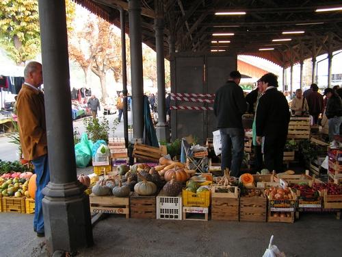 Pompoenen op de markt van Mondovi
