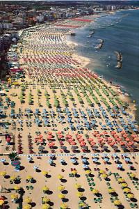 Het strand van Rimini