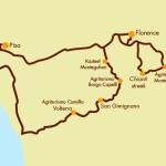 De route die Chantal en Gijs gaan rijden